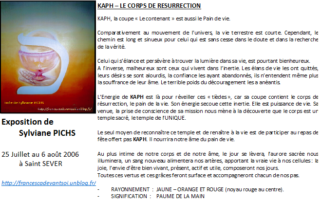 CARTE KAPH - le corps de resurrection